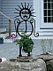 direct metal sculpture, garden art, planter, found metal scupture, yard art
